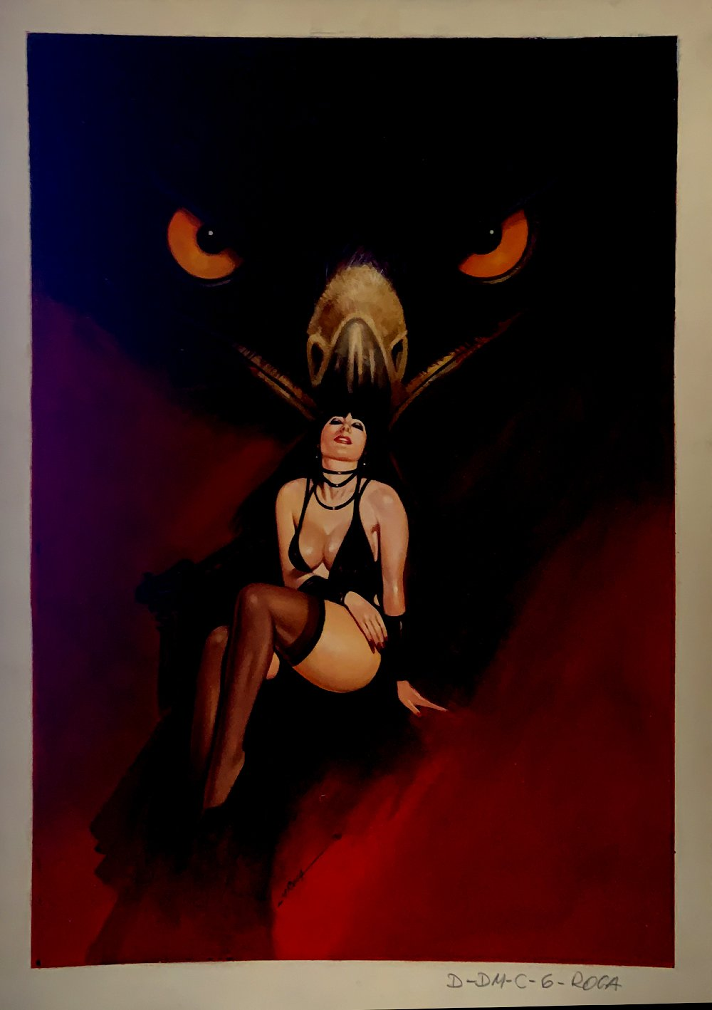 Coven #1 Back Cover Published Painting (With Bonus Art On Back!)