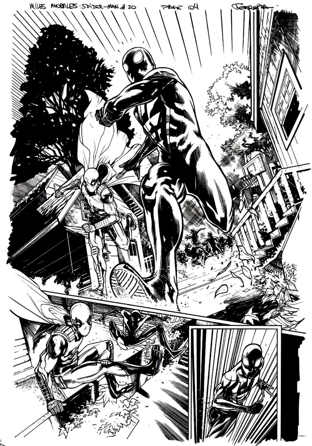 Miles Morales: Spider-Man #20 p 4 Semi-Splash (Spider-Man & Prowler!) 2020
