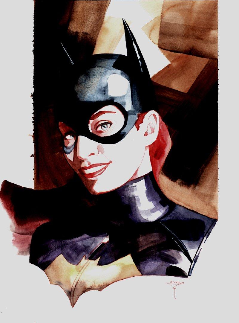Batgirl Painted Pinup
