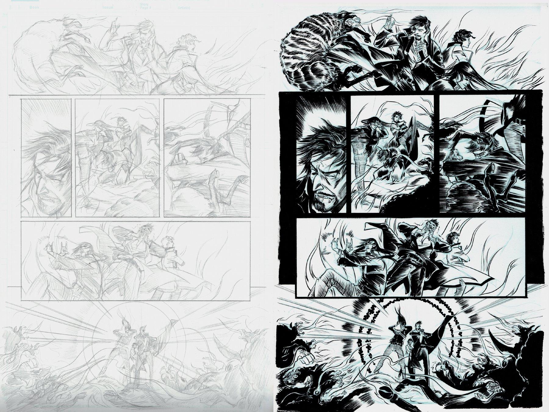 Doctor Strange: Season One p 12 (Dr. Strange & 2 Babes Battling Wolves!) 2012