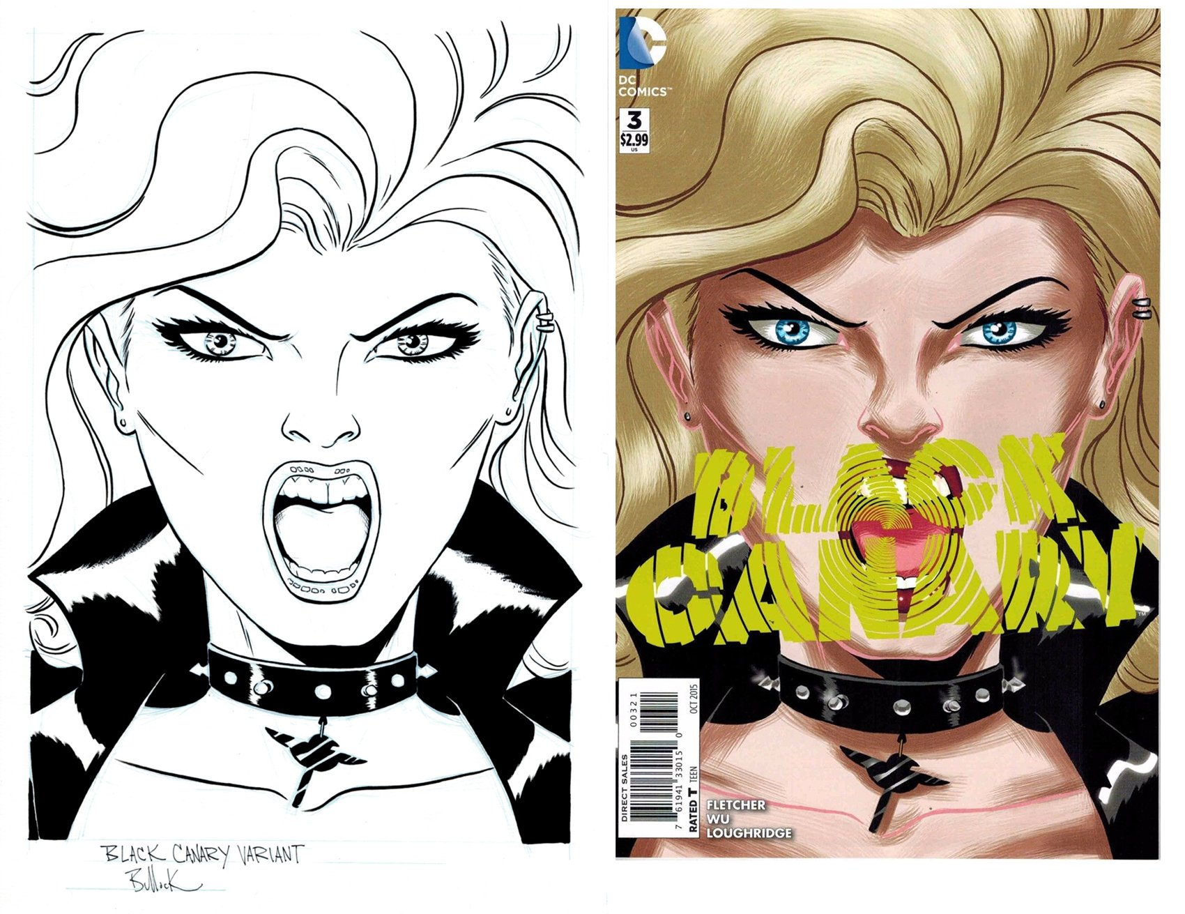 Black Canary #3 Cover (2015)
