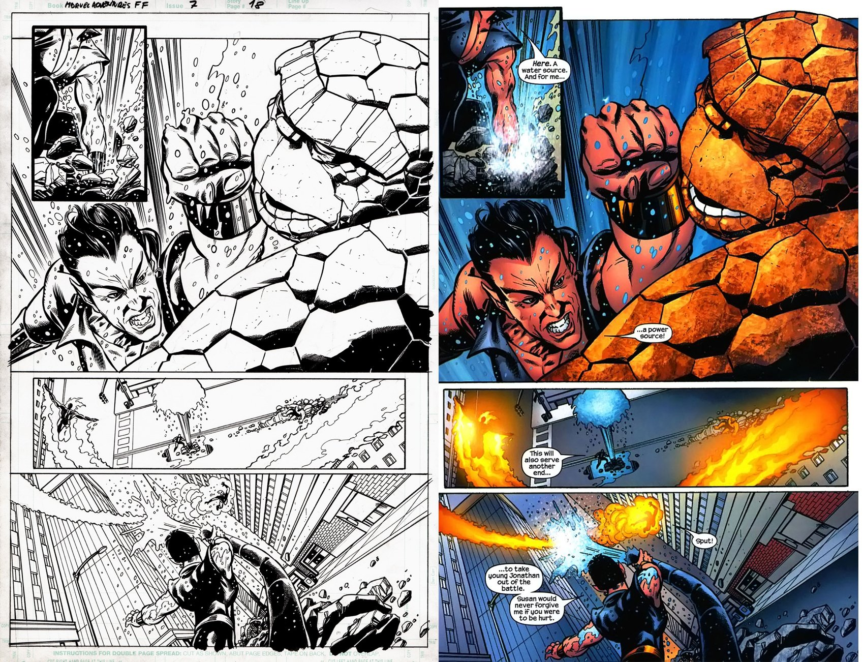 Marvel Adv. Fantastic Four #7 p 18 (SOLD LIVE ON 'DUELING DEALERS OF COMIC ART' EPISODE #31 PODCAST ON 8-14-2021(RE-WATCH THIS FUNNY ART SELLING SHOW HERE)