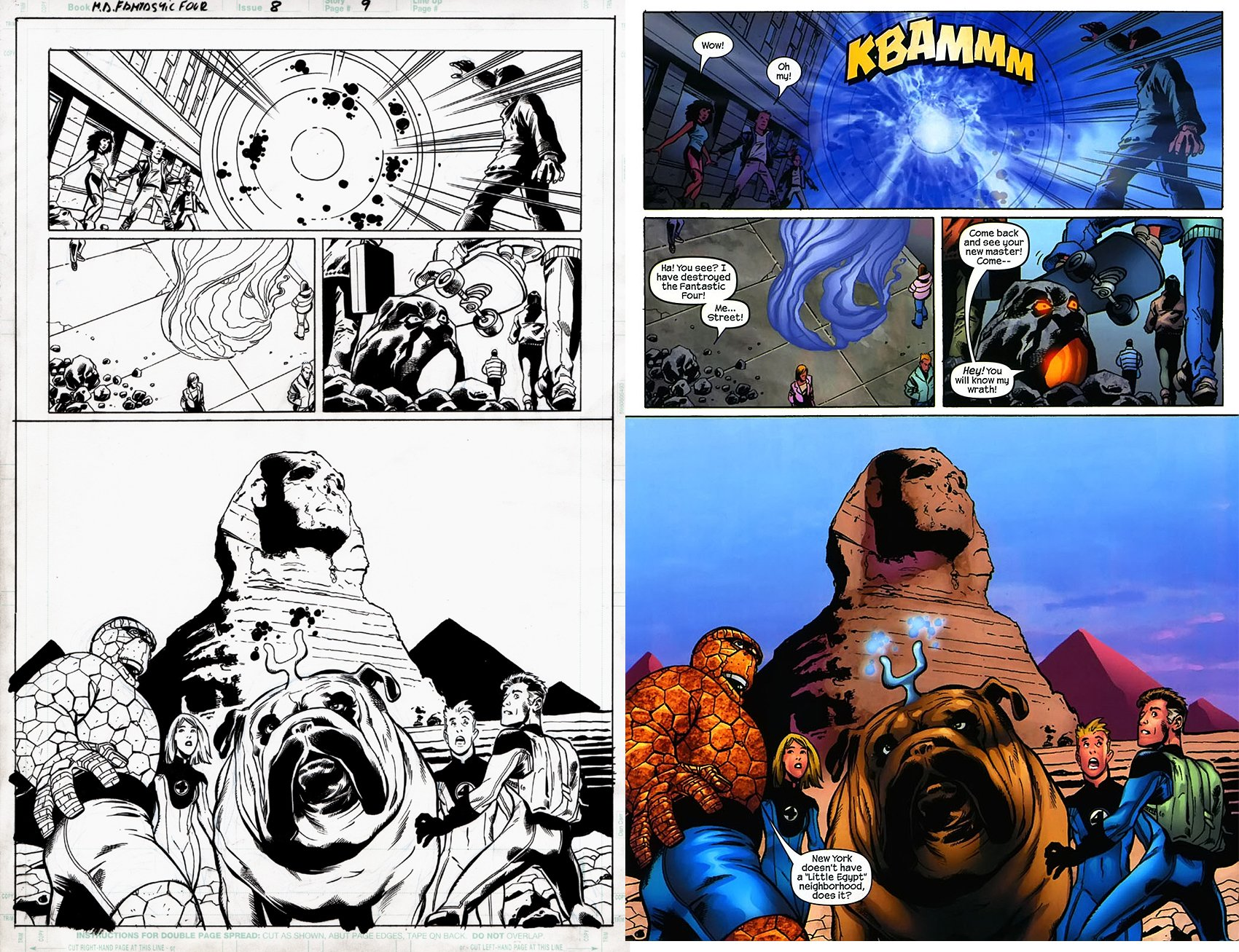 Fantastic Four 8 p 9(SOLD LIVE ON 'DUELING DEALERS OF COMIC ART' EPISODE #28 PODCAST ON 8-2-2021 (RE-WATCH THIS FUNNY ART SELLING SHOW HERE)