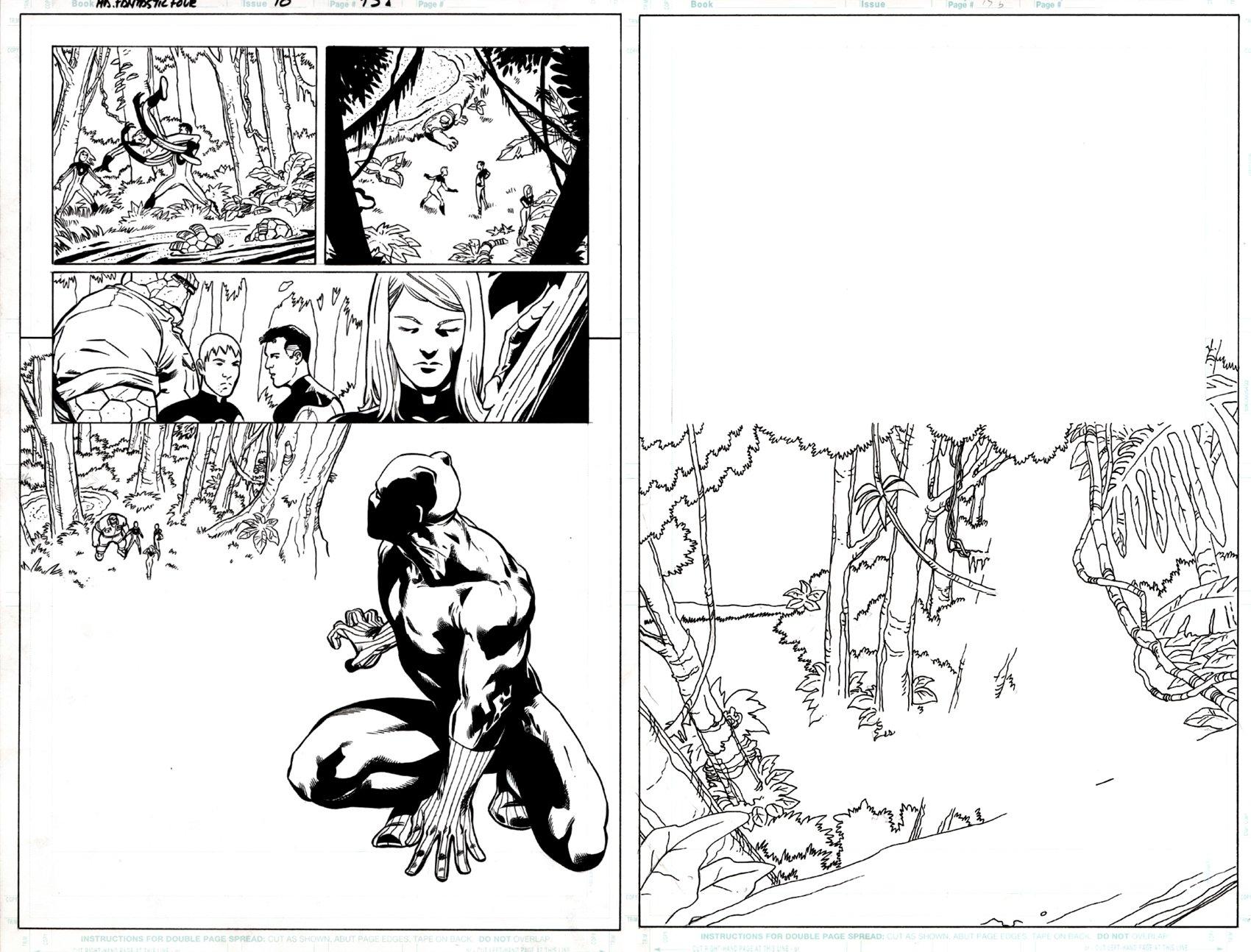 Marvel Adv #10 p 15 (ALL FF, HUGE BLACK PANTHER IMAGE!) 2006