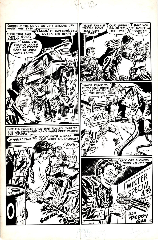 Flash Comics#112 Unpublished P 6 (RARE Ghost Patrol Battle Page!) 1940s