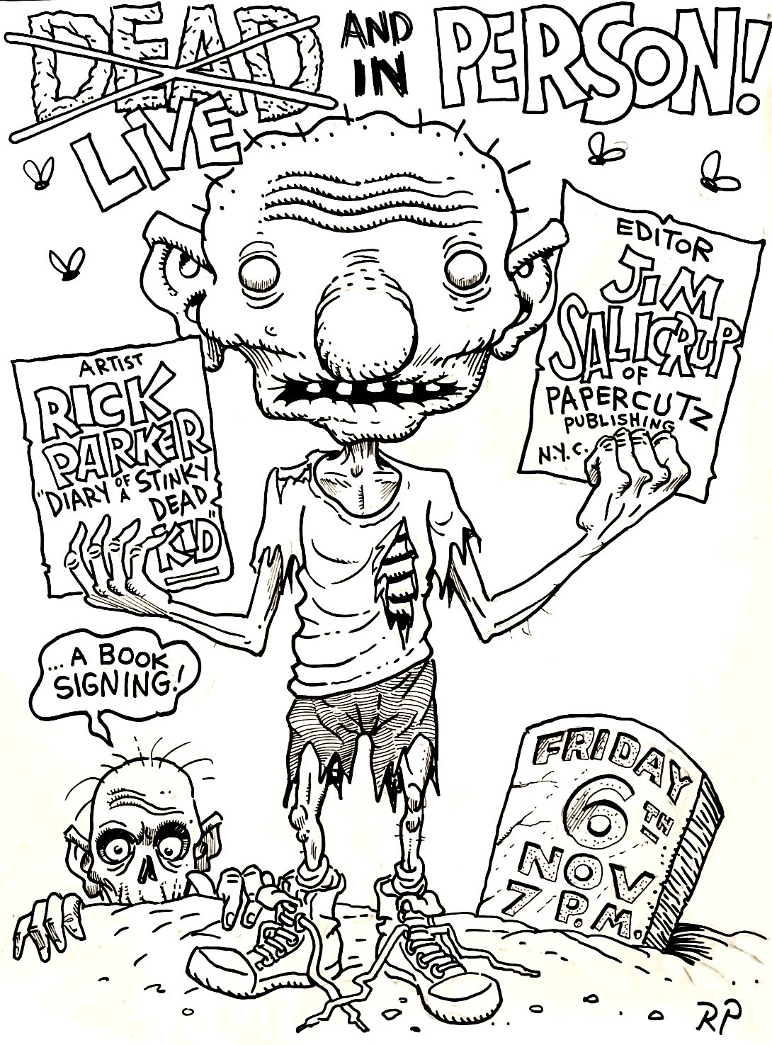 Deadboy & Zombie HugeComic Convention Poster Art
