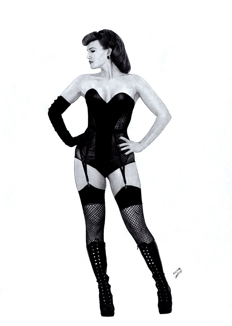 Sally Jupiter from Watchmen Pinup (SOLD LIVE ON 'DUELING DEALERS PRO-AM' EPISODE #7 PODCAST ON 9-14-2021 (RE-WATCH THIS FUNNY ART SELLING SHOW HERE)