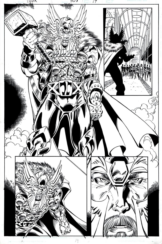 Thor #50 p 19 Semi-Splash (HUGE THOR!)