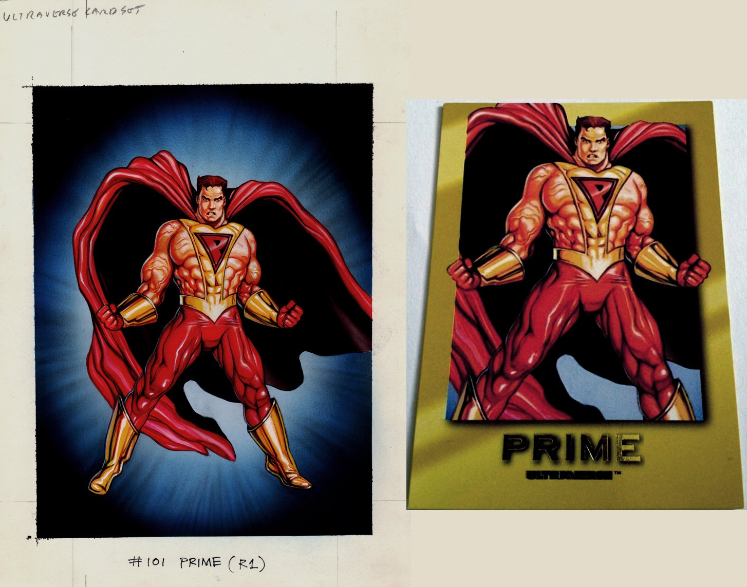 Ultraverse Prime Card Painting (SOLD LIVE ON THE ROMITAMAN ART DROP PODCAST ON 10-9-2021(RE-WATCH THIS FUN ART SELLING SHOW HERE)