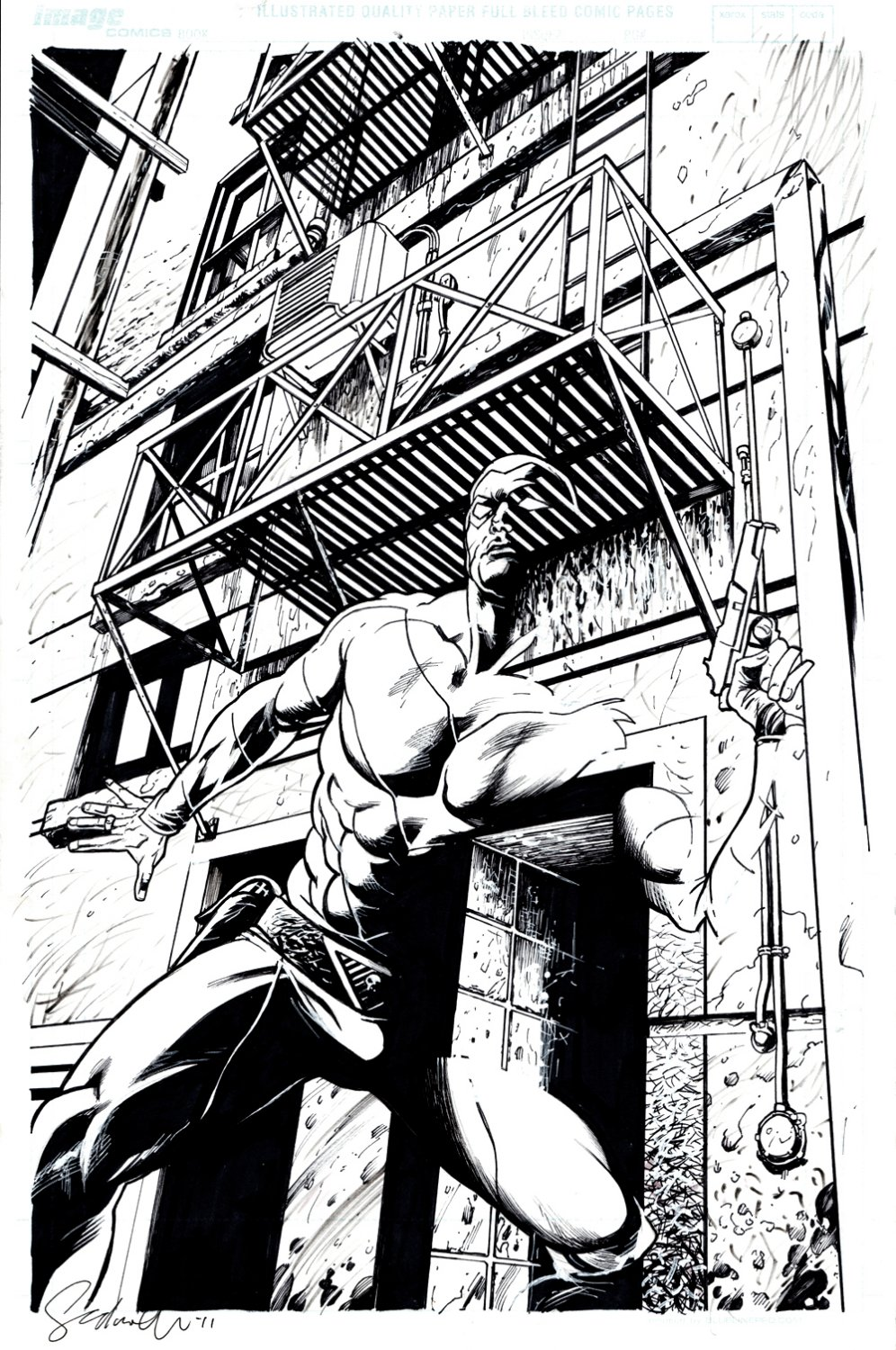 The Last Phantom #7 Cover (SOLD LIVE ON THE ROMITAMAN ART DROP PODCAST ON 10-9-2021)