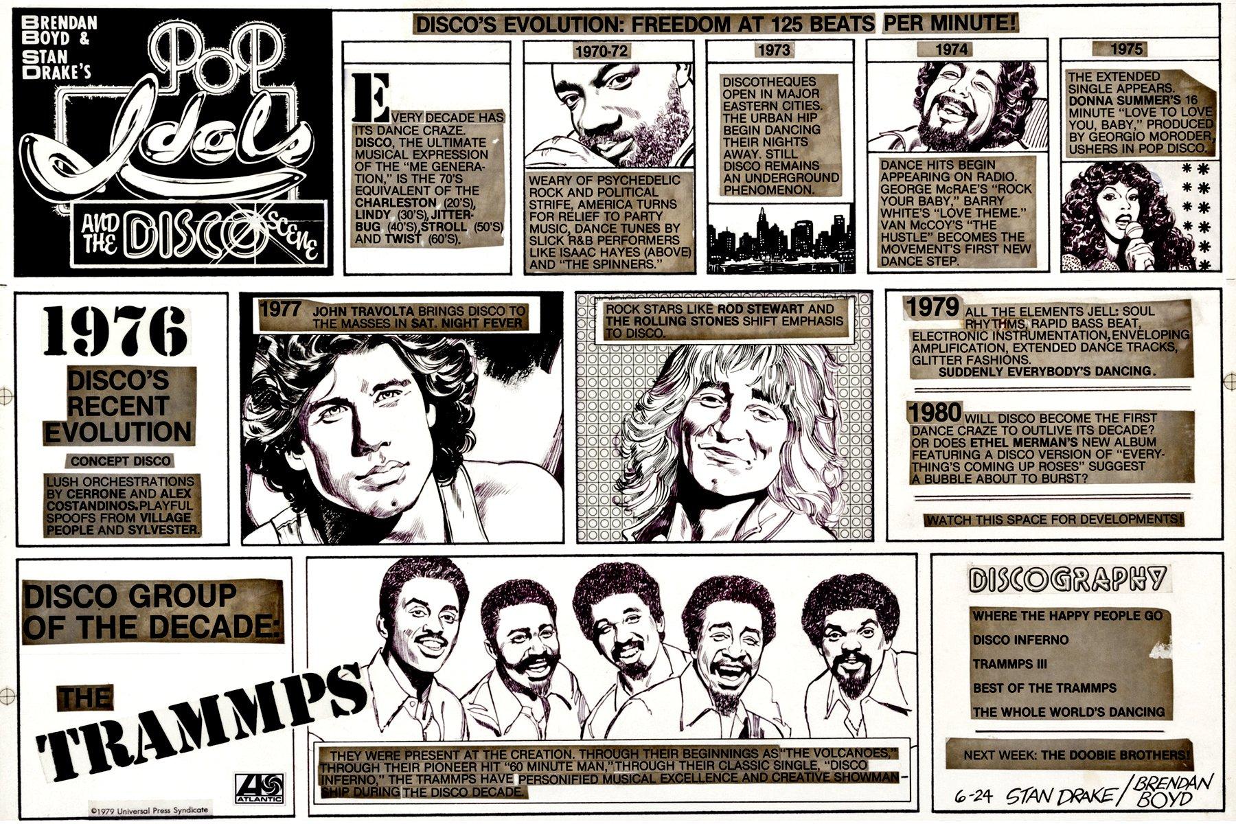 Pop Idols and the Disco Scene Very Large Sunday Strip (6-24-1979)