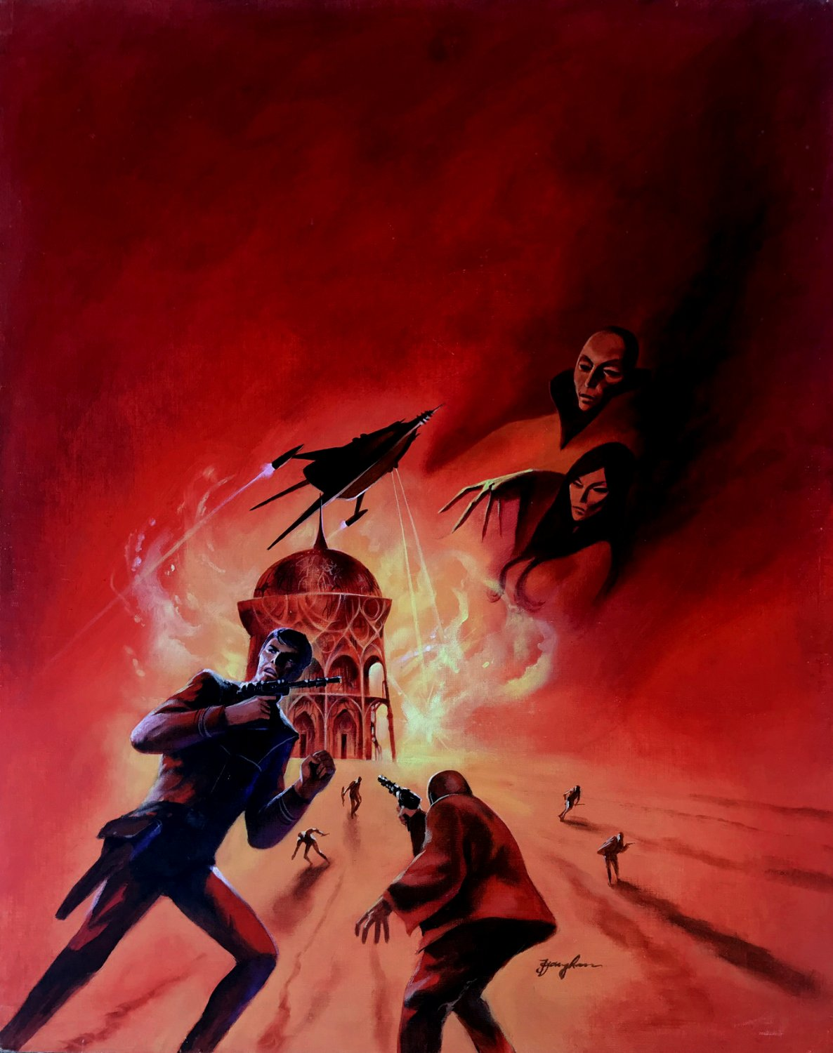 Cap Kennedy #14 'The Ghosts of Epidoris' Huge Cover Painting (1975)