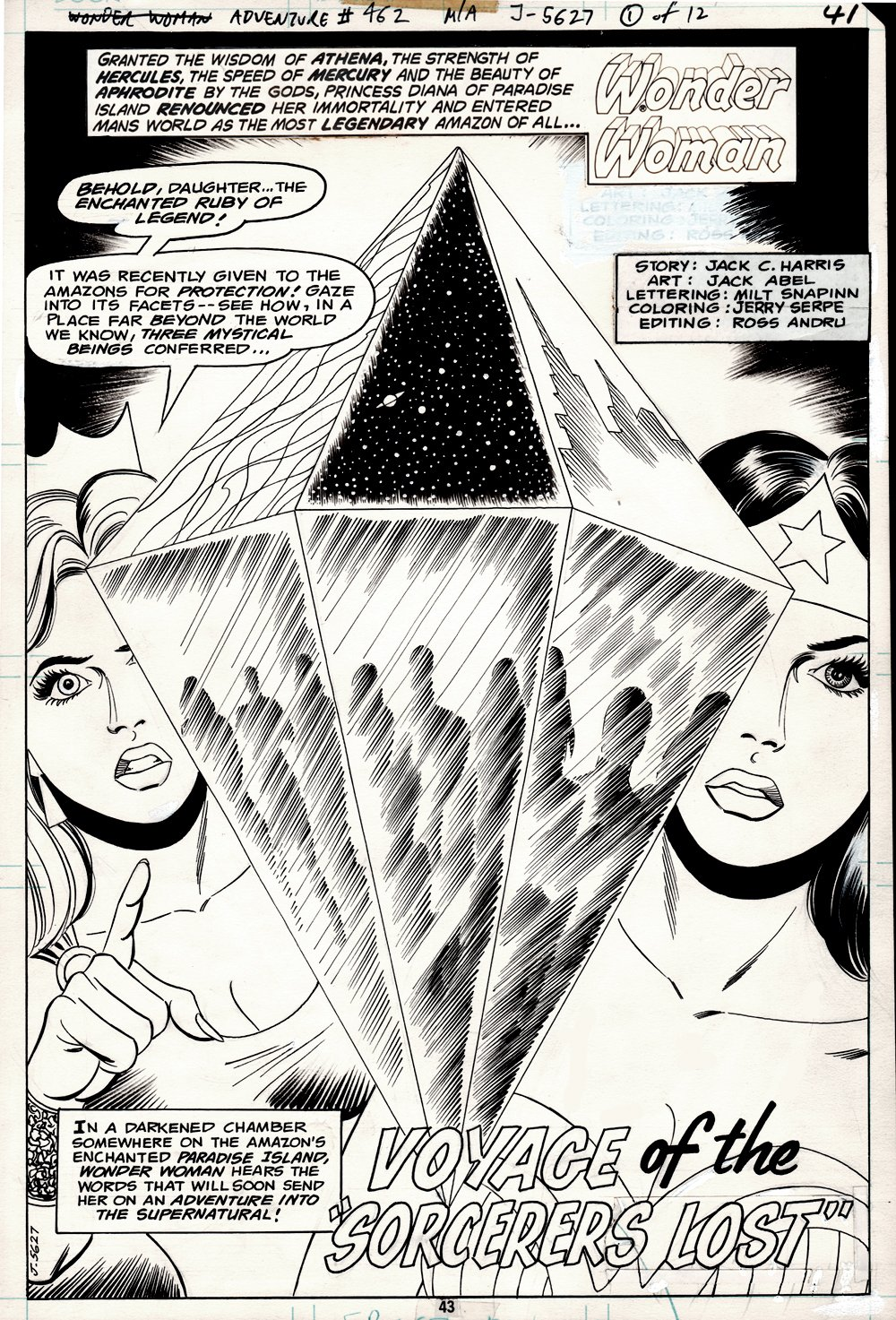 Adventure Comics #462 p 1 SPLASH (Wonder Woman & Her Mother: Hippolyta!) 1978