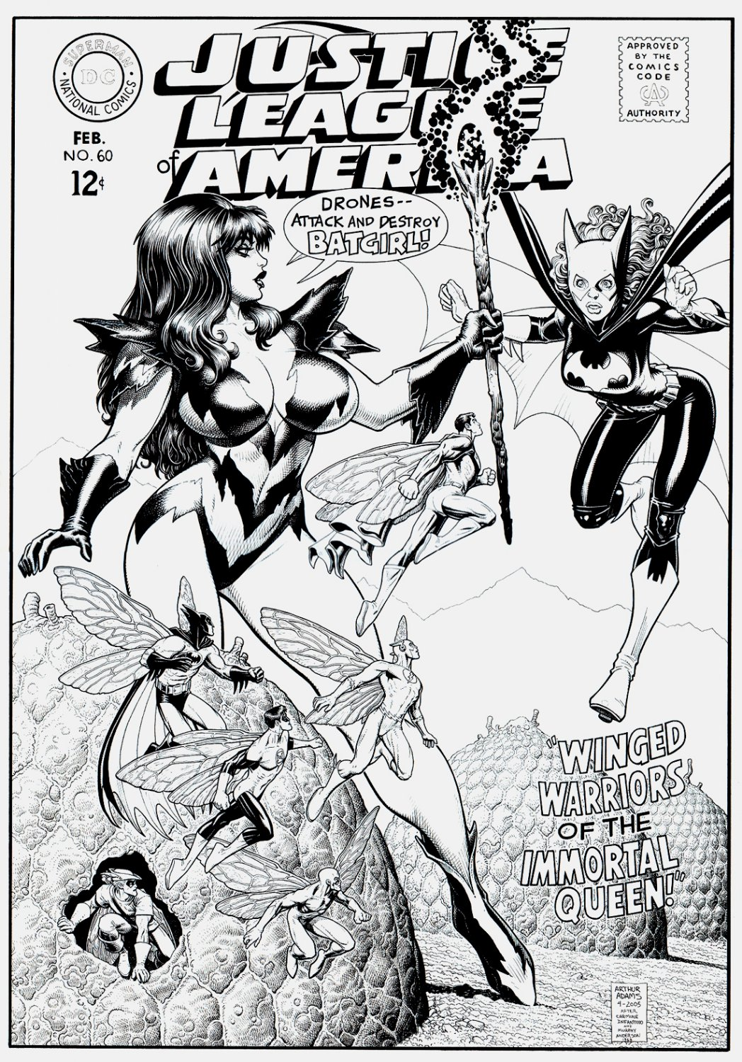 Justice League of America #60 Huge Cover Reinterpretation (2005)