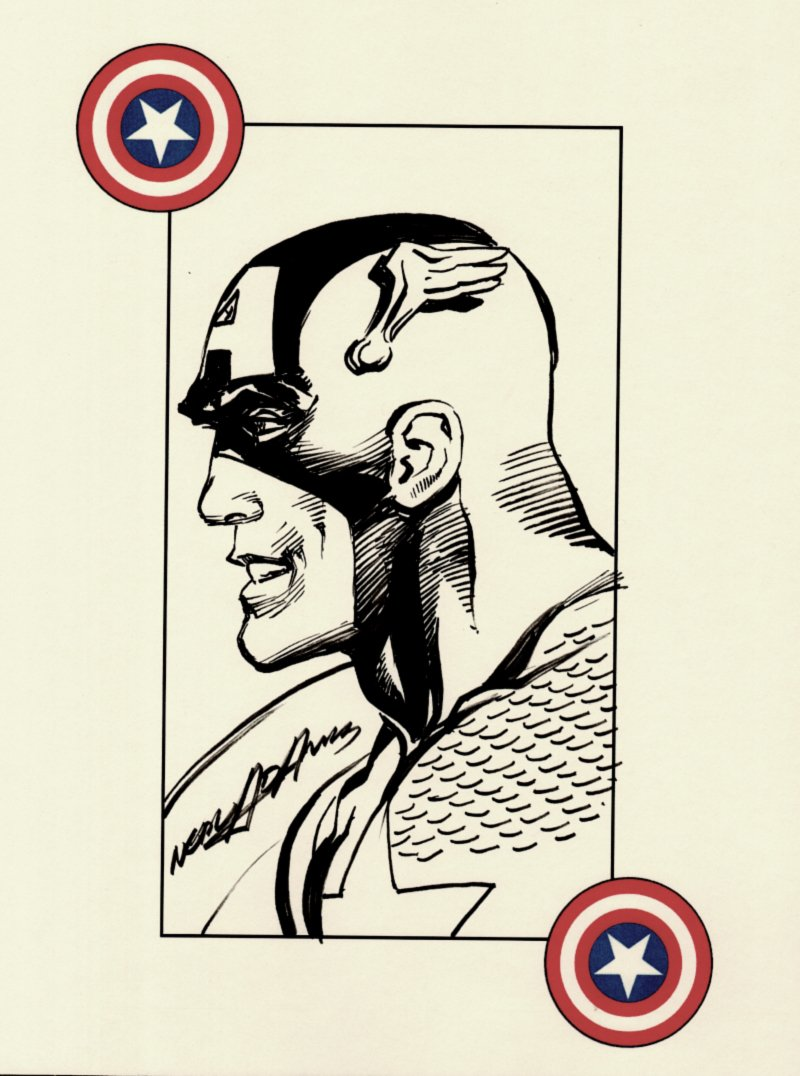 Captain America Pinup (SOLD LIVE ON 'DUELING DEALERS OF COMIC ART' EPISODE #38 PODCAST ON 9-29-2021(RE-WATCH THIS FUNNY ART SELLING SHOW HERE)