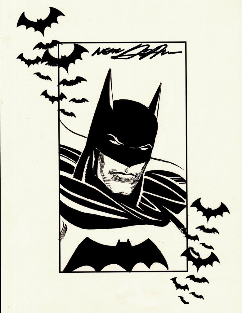 Batman Staring Pinup