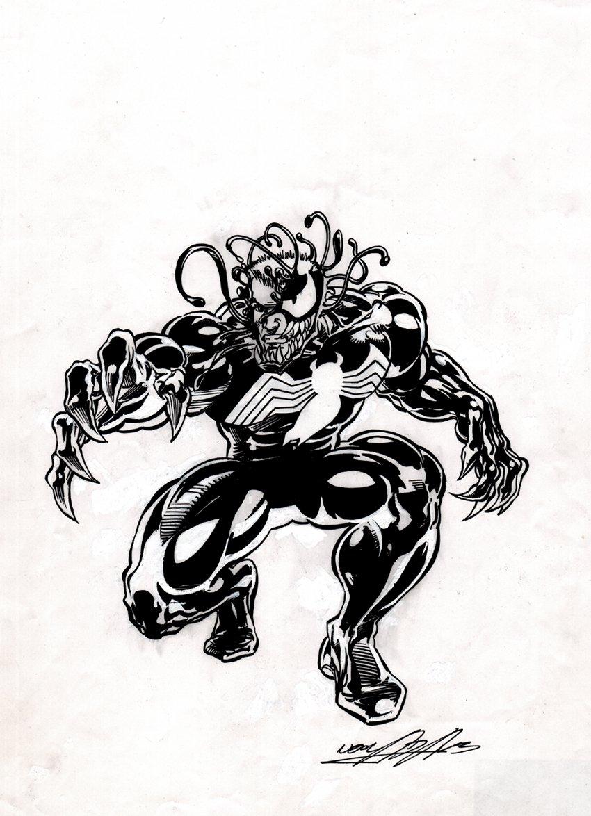 Published VENOM Art for Front & Back Of Action Figure Card!