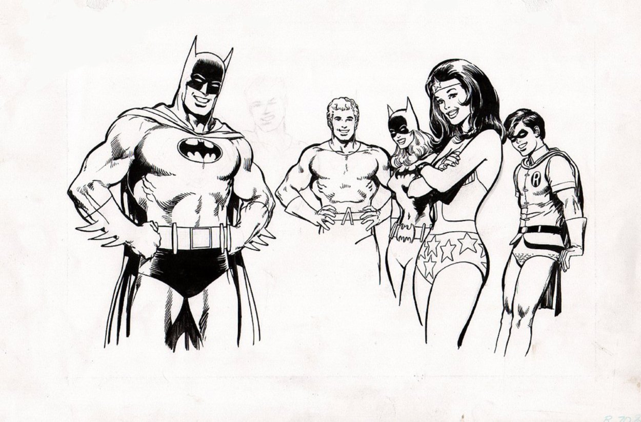 Batman Vitamin Poster Art (Batman, Wonder Woman Batgirl, Robin, Aquaman, Penciled Superman!) 1977