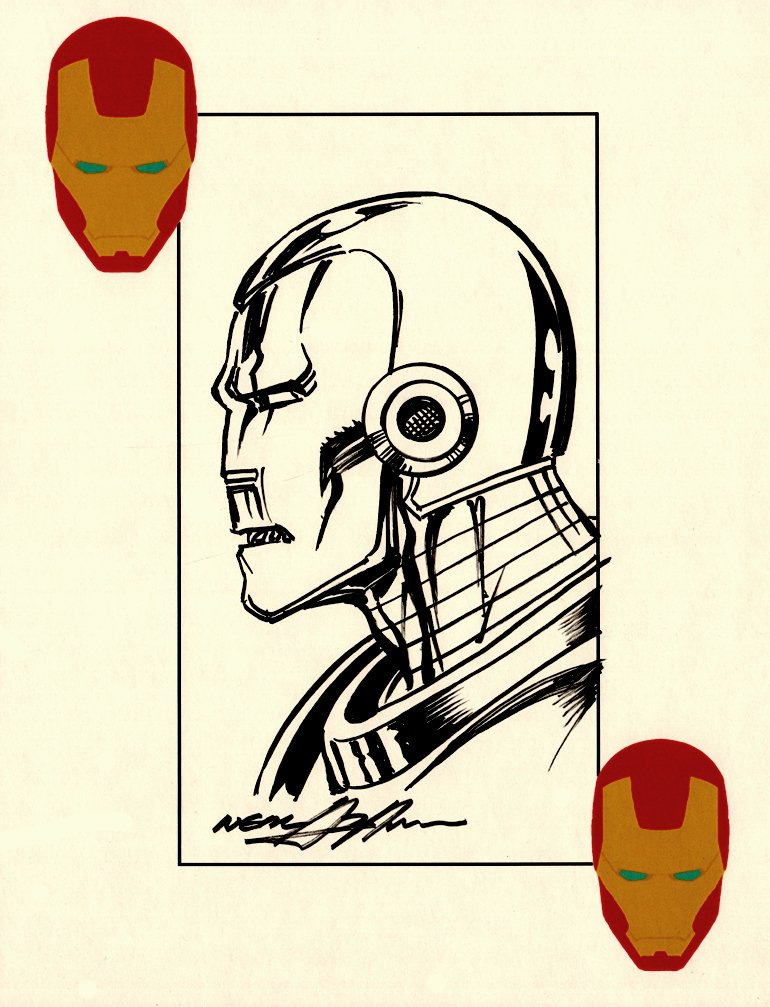 Iron Man Pinup (SOLD LIVE ON 'DUELING DEALERS OF COMIC ART' EPISODE #9 PODCAST ON 3-24-2021 (RE-WATCH OUR LIVE ART SELLING PODCAST HERE!)