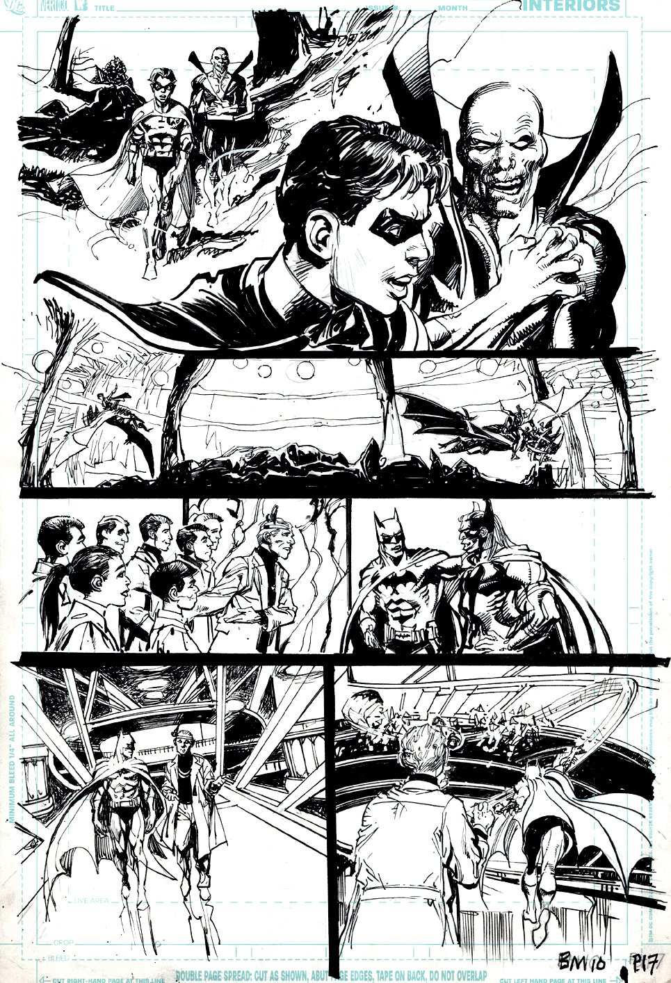 Batman: Odyssey #4 p 17 (BATMAN, ROBIN, DEADMAN, BAT-MAN! BILL SIENKIEWICZ & ADAMS INKS!) 2011