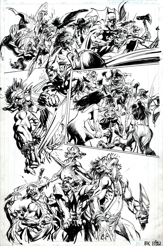 Batman: Odyssey #5 p 20 (BEST BATMAN BATTLE PAGE IN BOOK! BILL SIENKIEWICZ INKS!) 2011