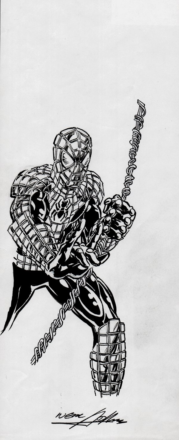 Battle Armored Spider-Man Art for Action Figure Card Art!