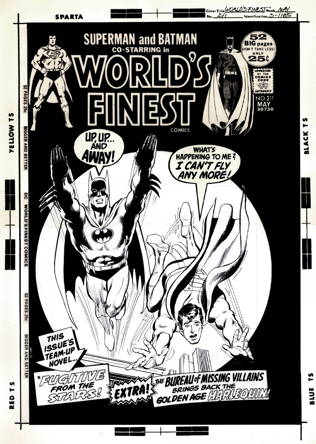 World's Finest Comics #211 Cover (OVERSIZED) 1971