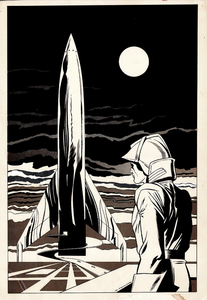 Spaceman Fanzine Pinup / Cover? (Large) 1960s/70s?