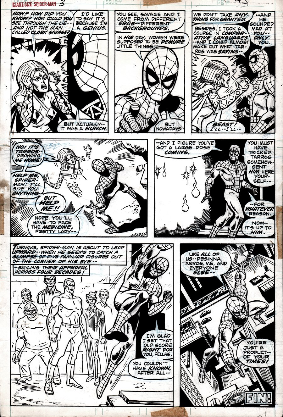 Giant-Size Spider-Man #3 p 24 (SPIDER-MAN IN ALL 7 PANELS!) 1974