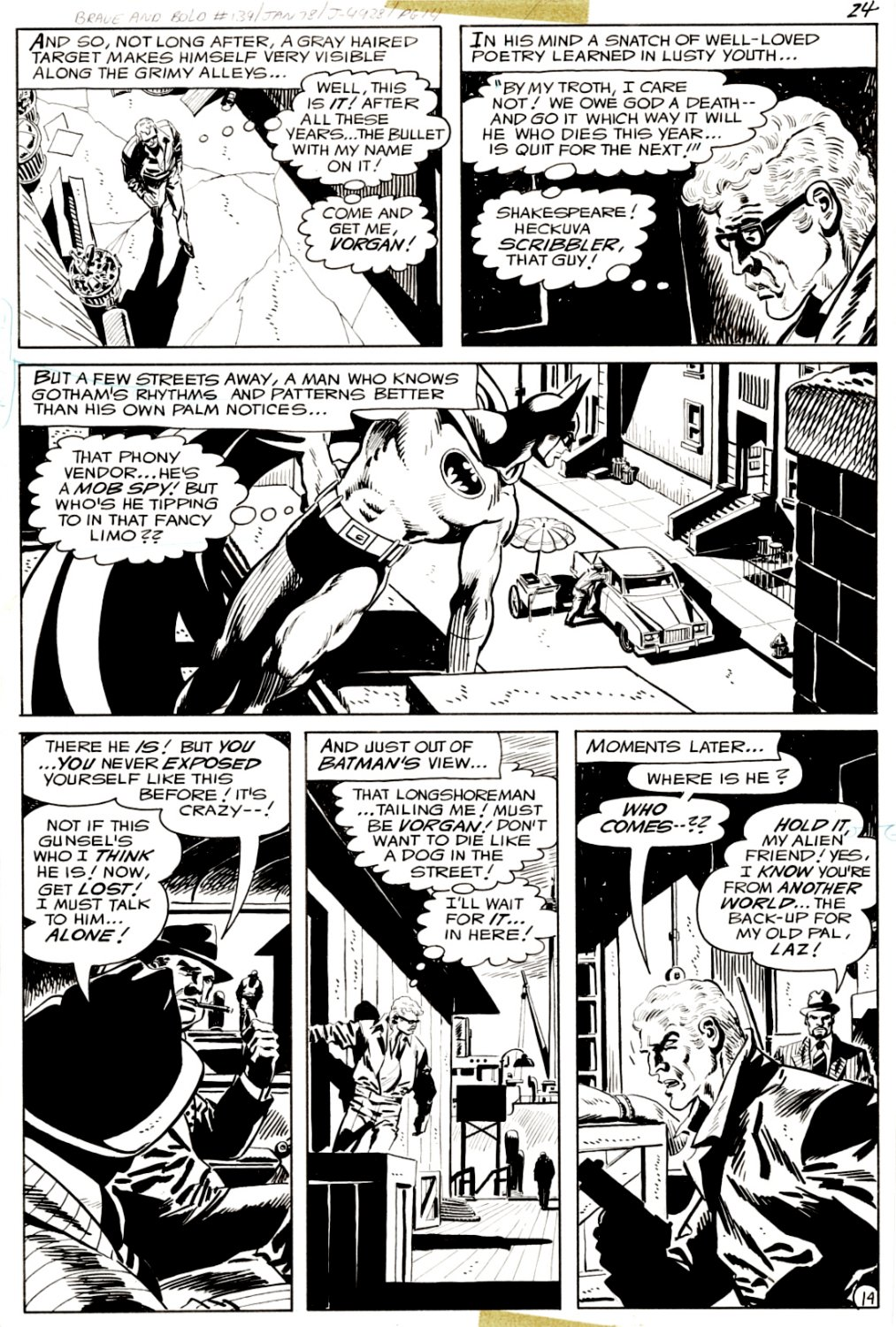Brave and the Bold #139 p 14 (SOLD LIVE ON 'DUELING DEALERS OF COMIC ART' EPISODE #39 PODCAST ON 10-4-2021