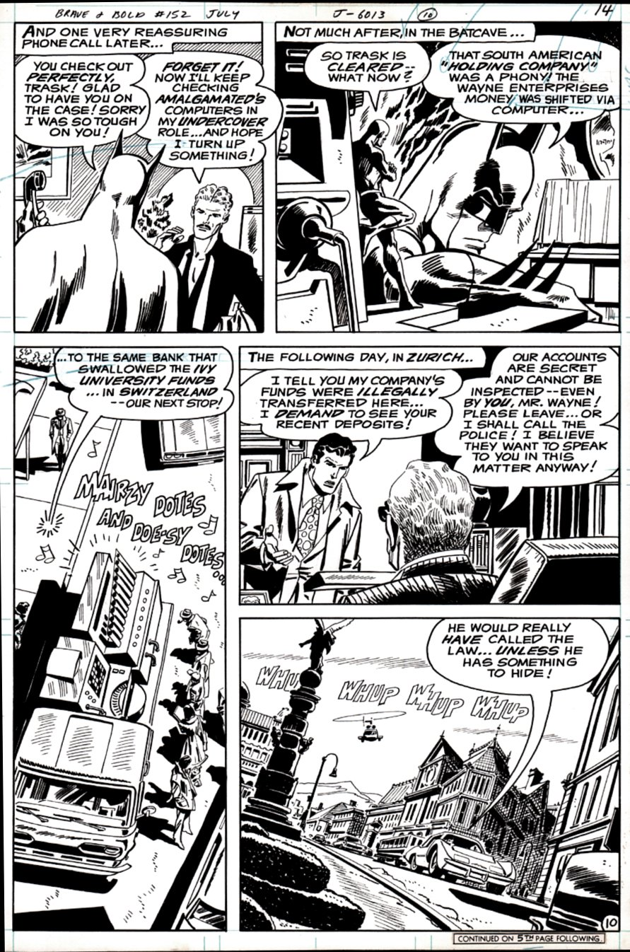Brave and the Bold #152 p 10 ( Batman & Ray Palmer!) 1979