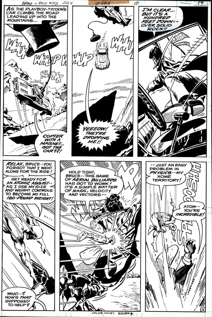 Brave and the Bold #152 p 11 (ATOM All out Battle Page!) 1979