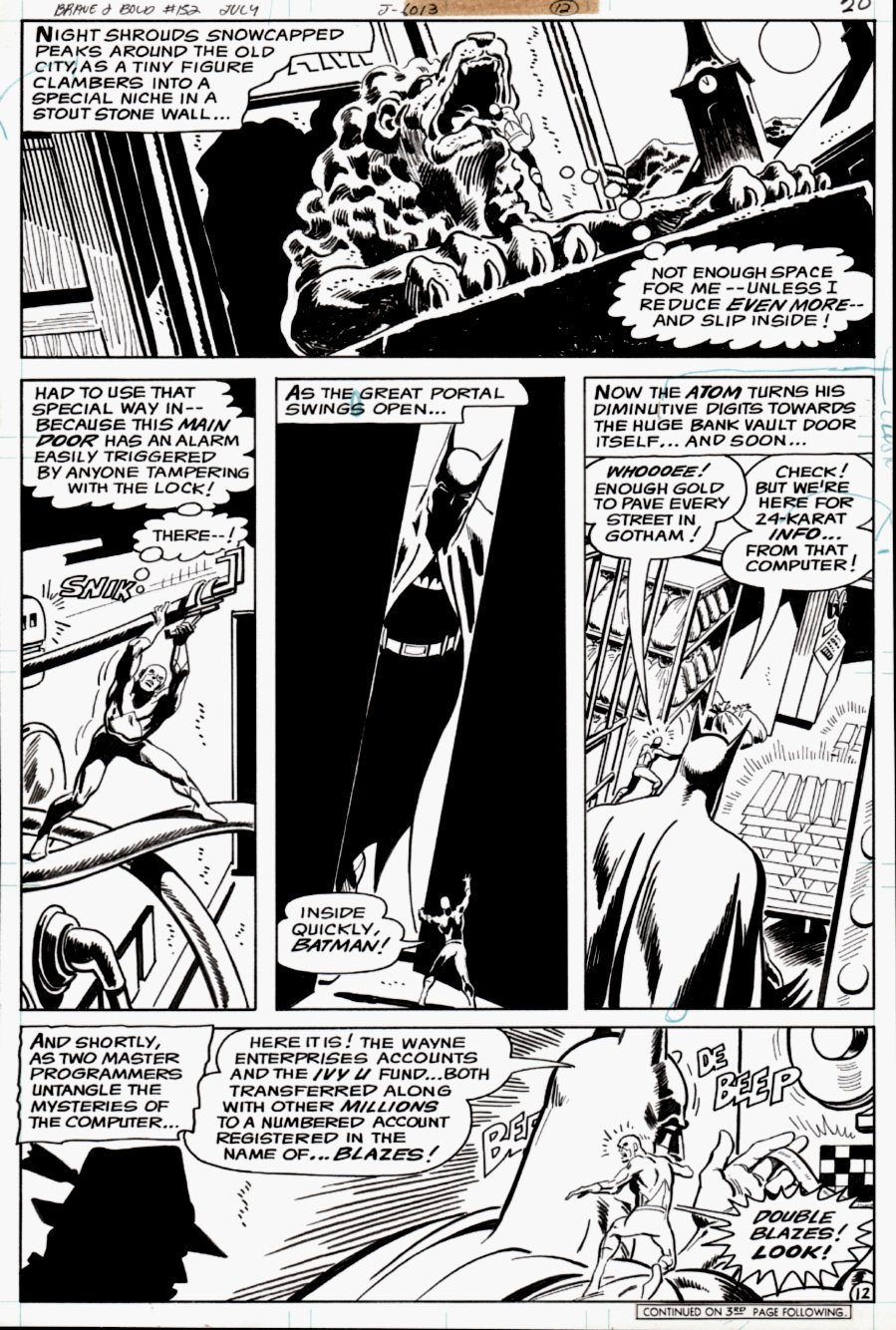 Brave and the Bold #152 p 12 (Batman & Atom!) 1979