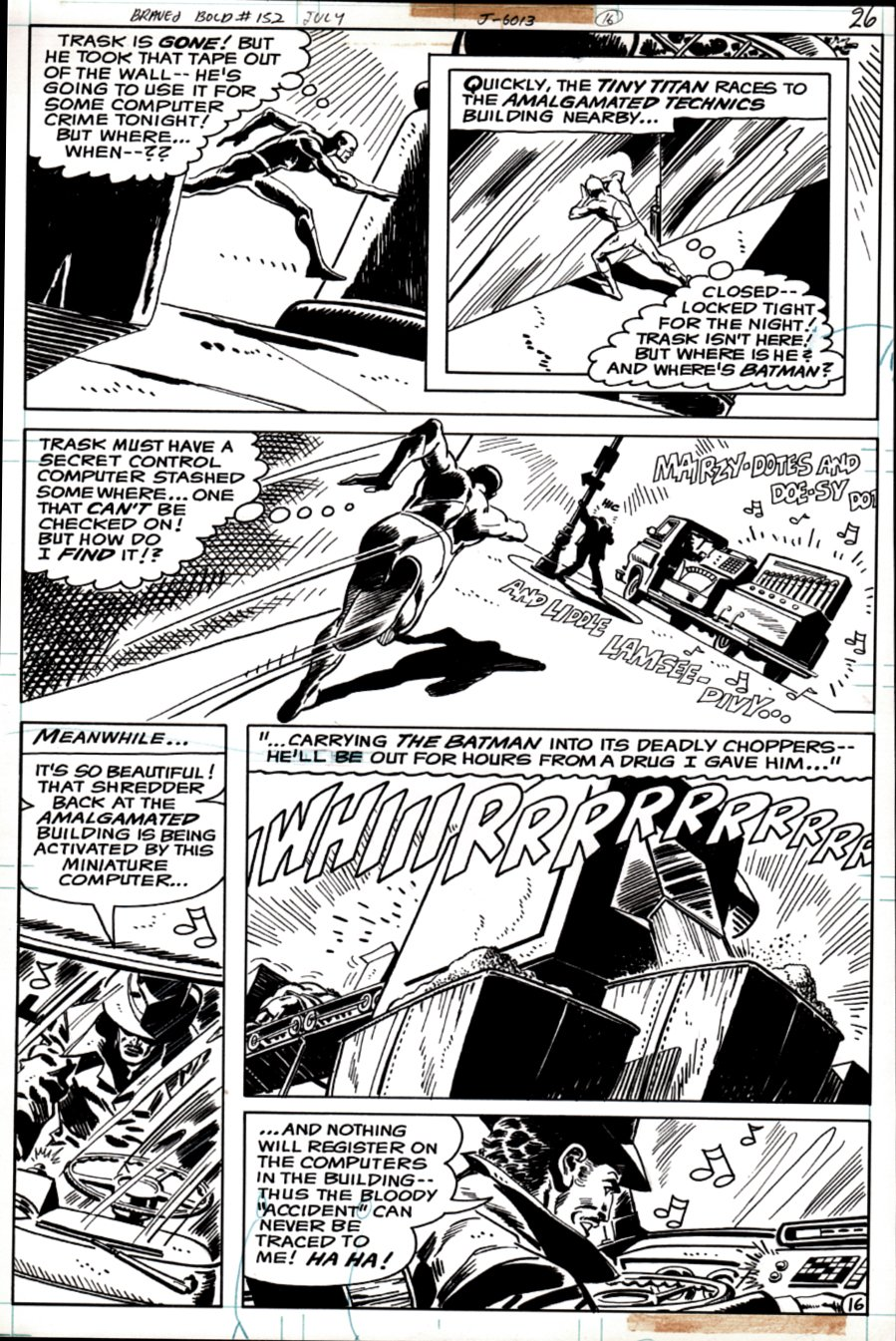 Brave and the Bold #152 p 16 (ATOM All out Battle Page!) 1979