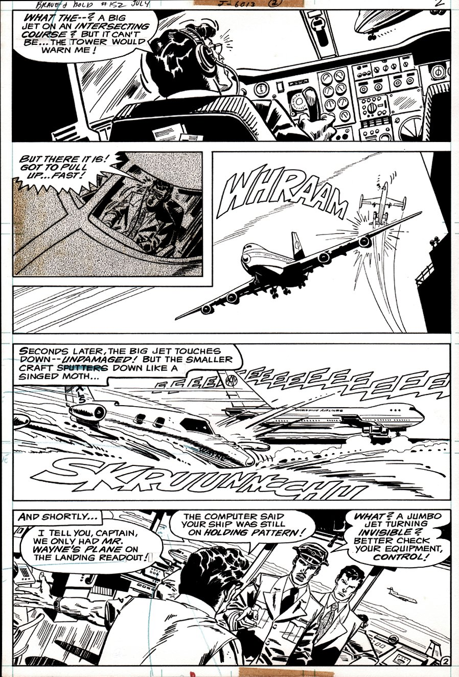 Brave and the Bold #152 p 2 (Bruce Wayne's Plane Almost Crashes!) 1979