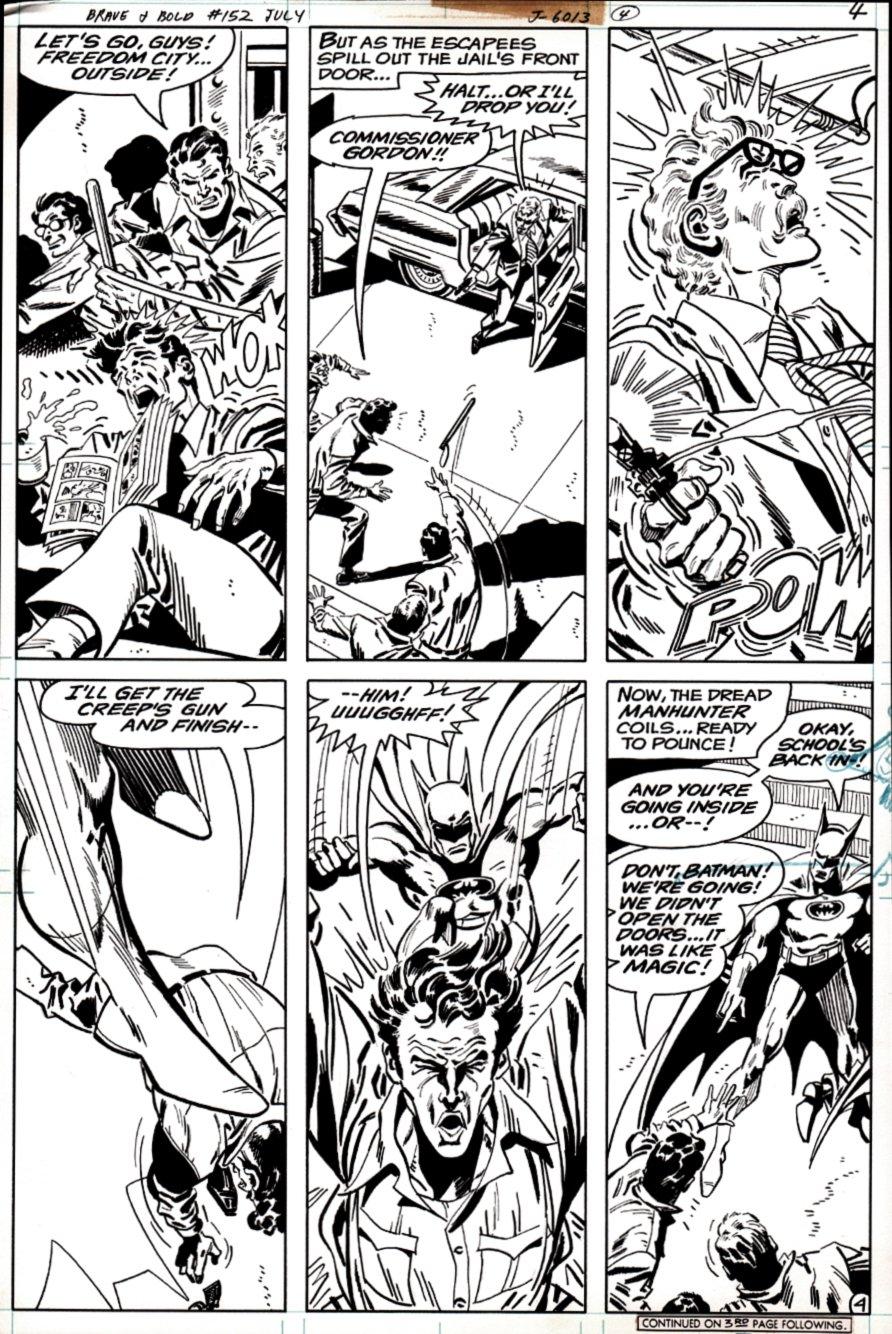 Brave and the Bold #152 p 4 (Batman / James Gordon Defeat Prisoners!) 1979