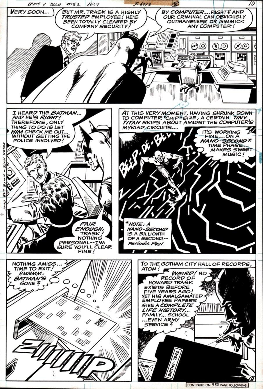 Brave and the Bold #152 p 8 (Batman & Atom!) 1979