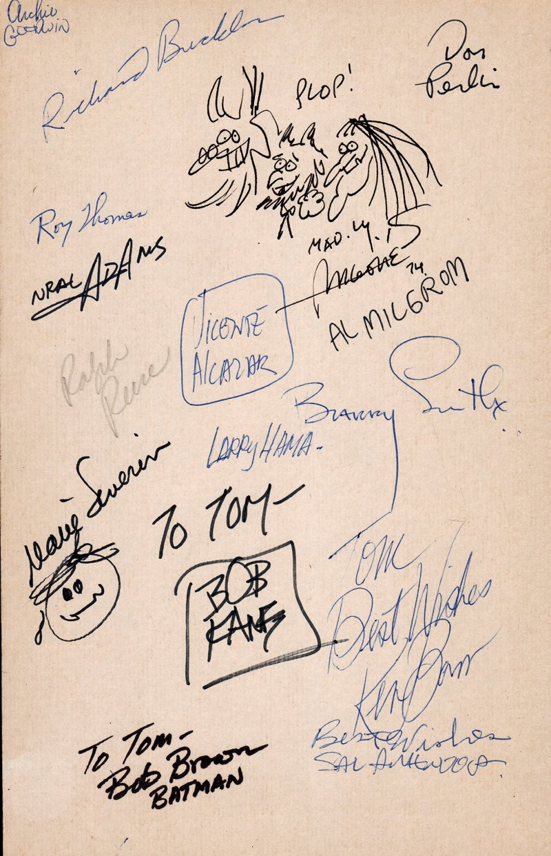 4 Drawings & 16 Famous Art Industry Signatures On 1 Board (1974)