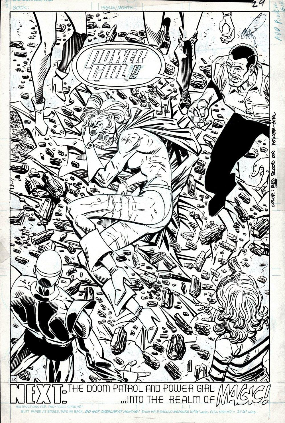 Doom Patrol #13 Last Page SPLASH (POWERGIRL!) 1988
