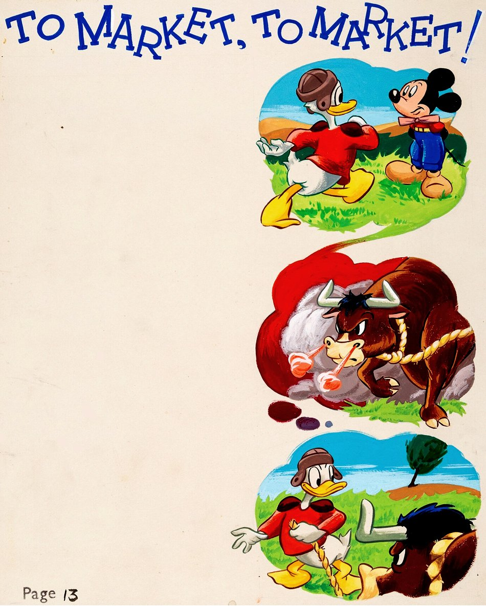 Mickey Mouse Annual 1954 p 13 Published Painting