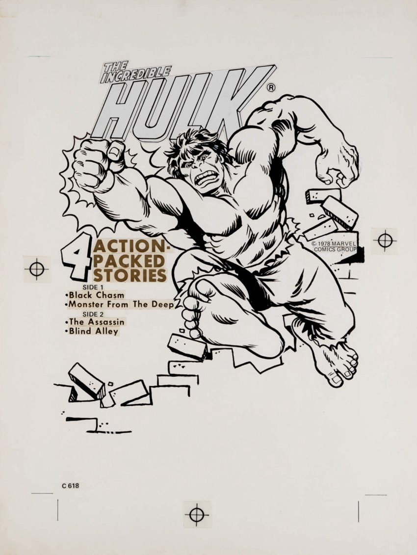 Incredible Hulk Power Records Unpublished Cover Art (1978)