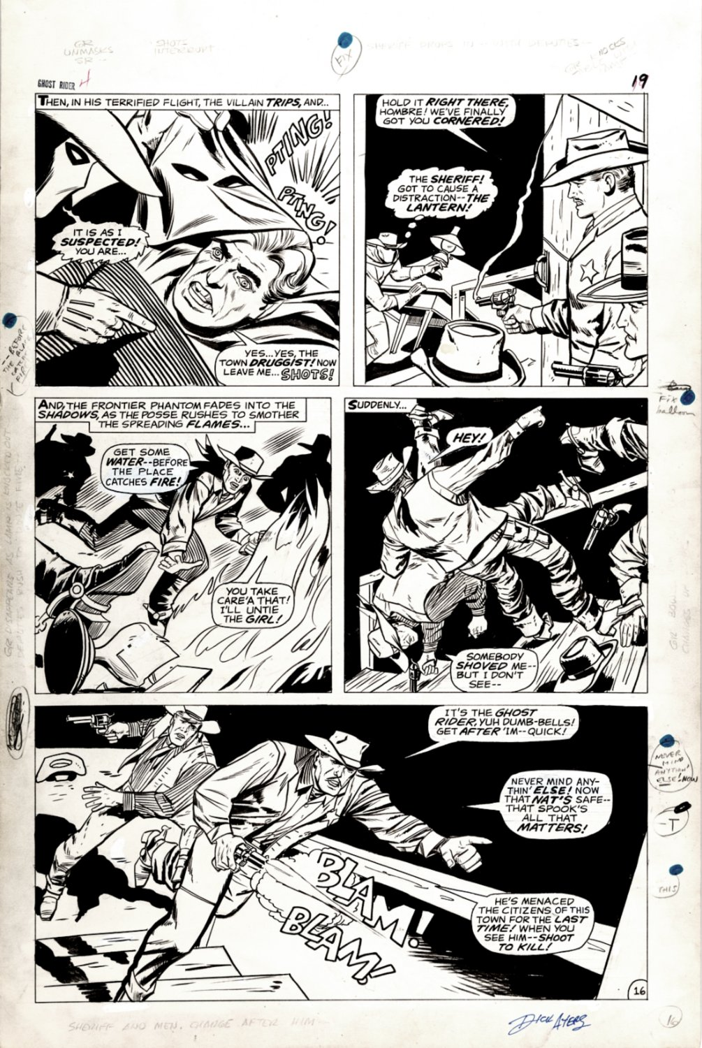 Ghost Rider #4 p 16 (SOLD LIVE ON THE ROMITAMAN ART DROP PODCAST: 8-28-2021 (RE-WATCH THIS ART SELLING SHOW HERE)