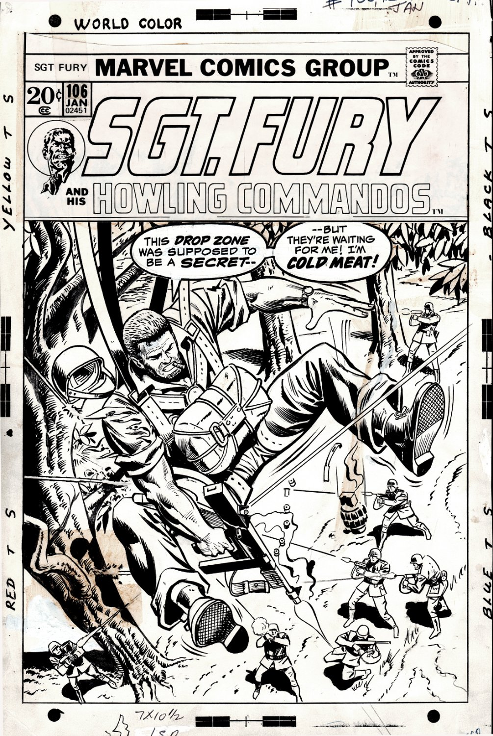 Sgt. Fury #106 Cover (Sgt. Fury In A Nazi Ambush!) 1972