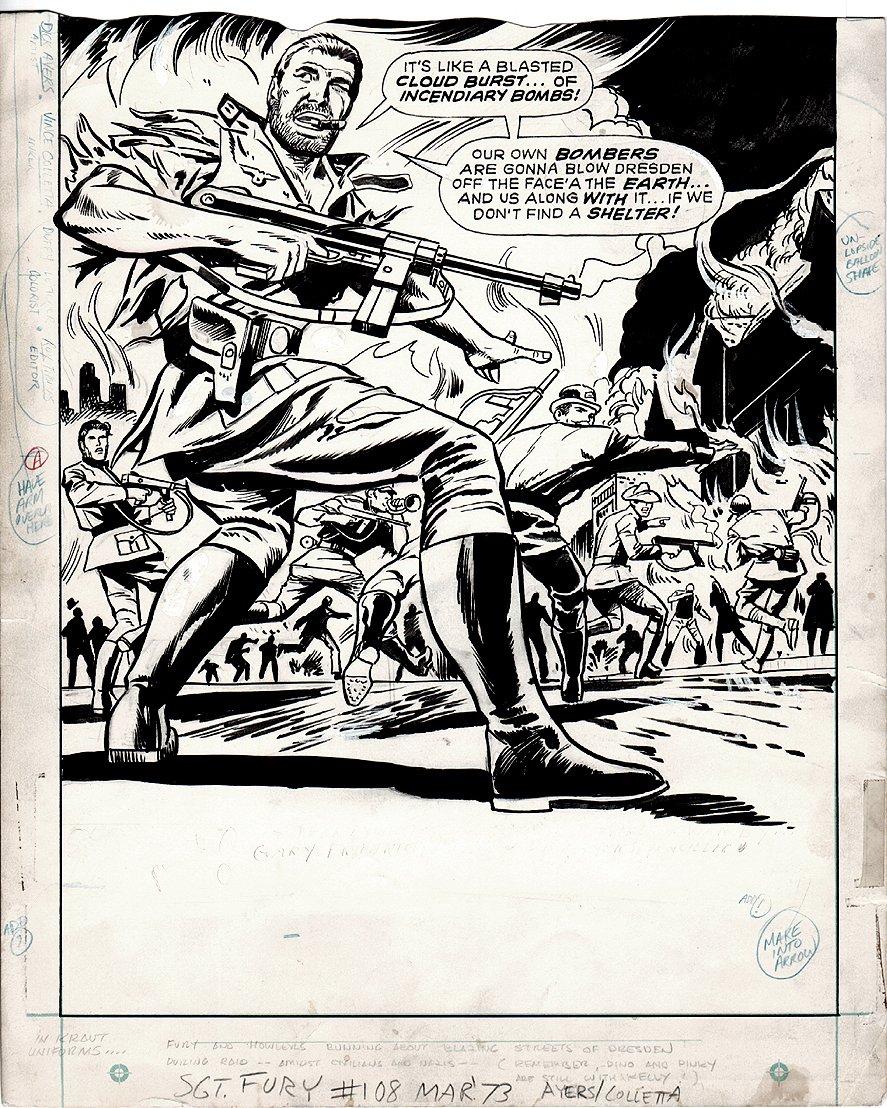Sgt. Fury #108 p 1 SPLASH (1972)