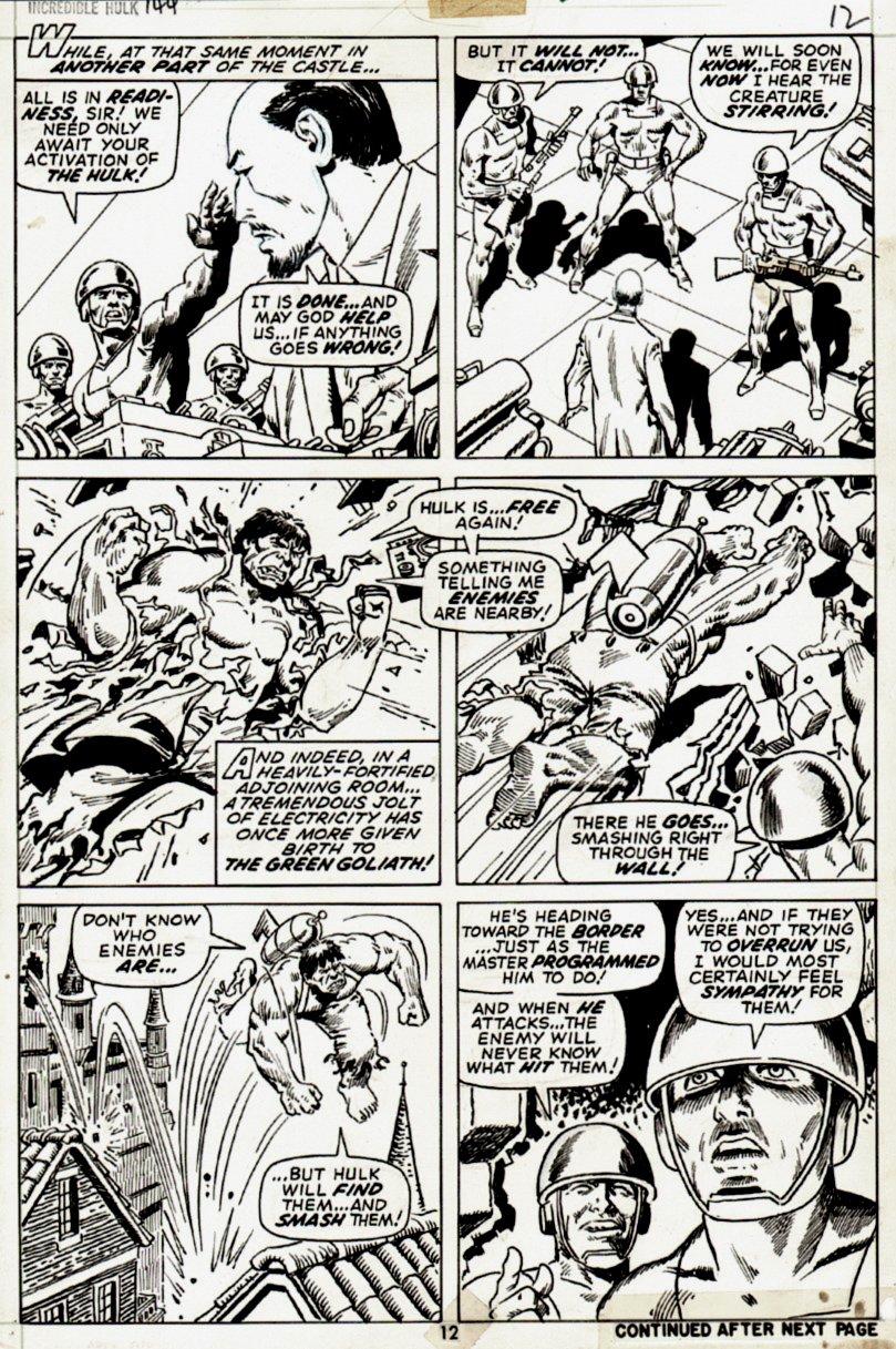 Incredible Hulk #144 p 12 (1971)