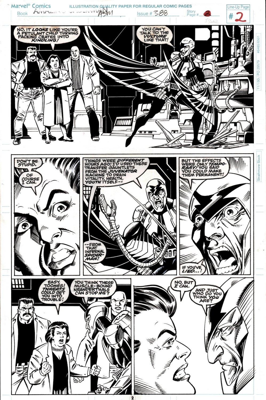 Amazing Spider-Man #388 p 2 (THE VULTURE!) 1993