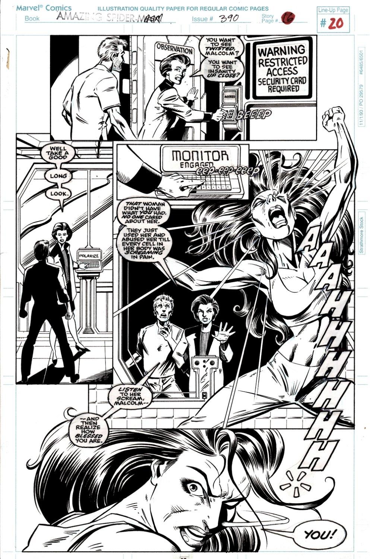 Amazing Spider-Man #390 p 20 (Shriek Going Crazy!) 1994
