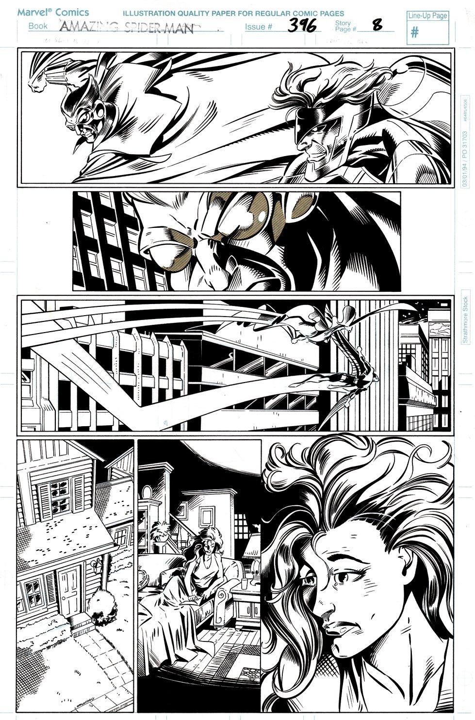 Amazing Spider-Man #396 p 8 (Mary Jane Watson-Parker, Vulture, Owl!) 1994