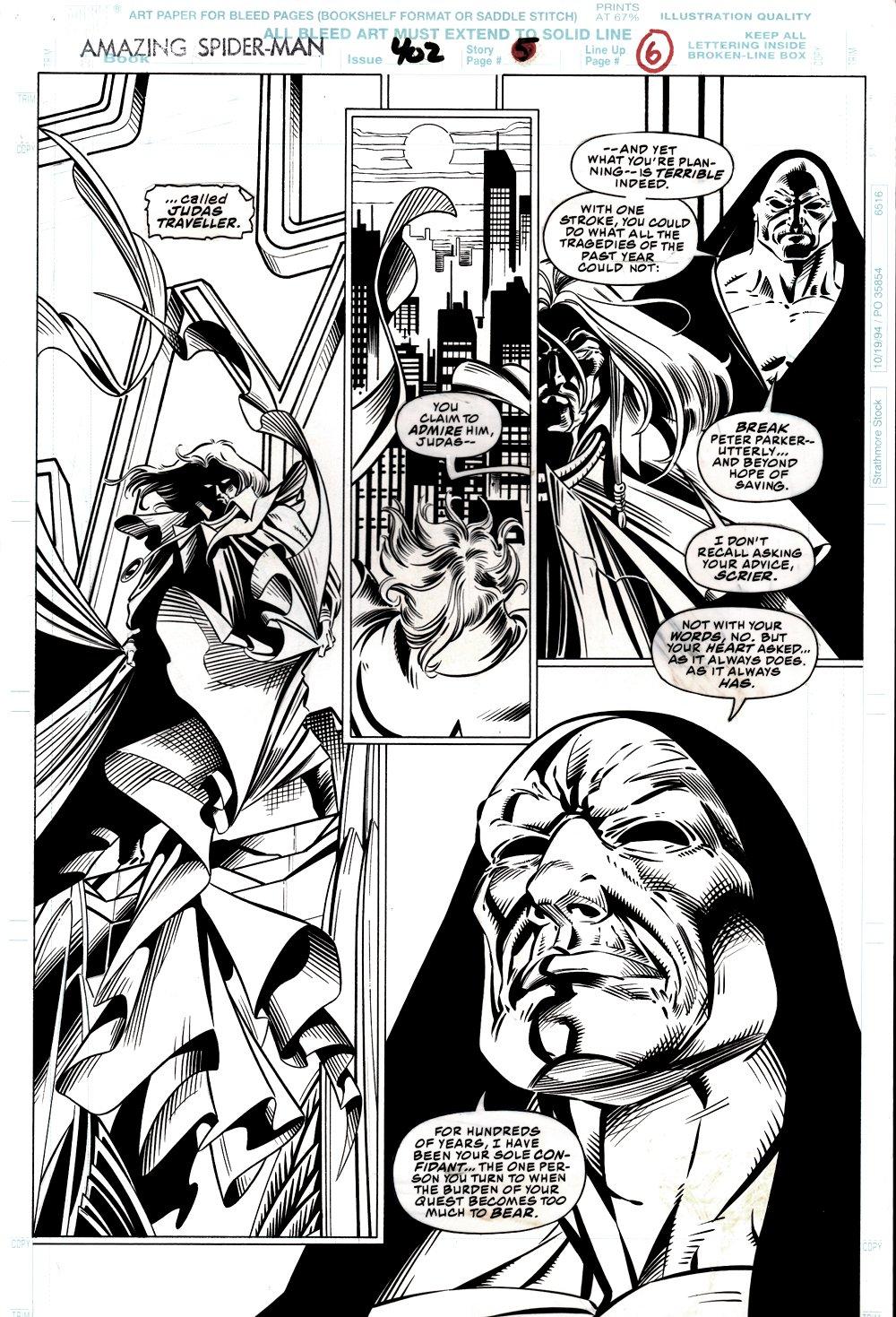 Amazing Spider-Man #402 p 6 (Judas Traveller & Scrier!) 1995
