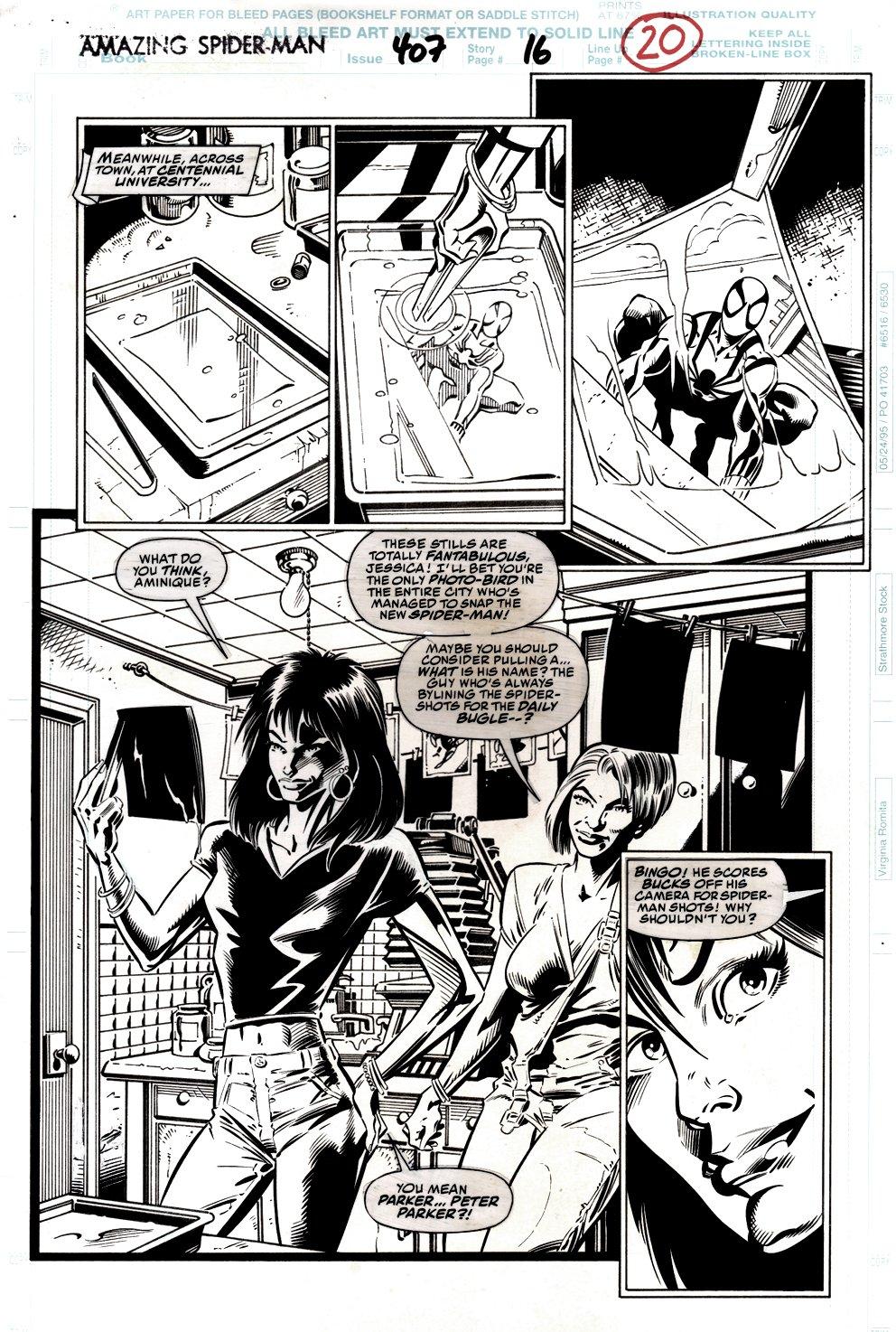 Amazing Spider-Man #407 p 16 (Spider-Man, Jessica Carradine, Aminique!) 1995